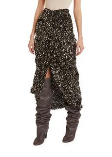 Isabel Marant Sequined Fringe Midi Wrap Skirt