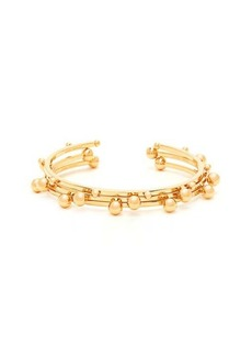 Isabel Marant Set of three ball-stud brass bangles