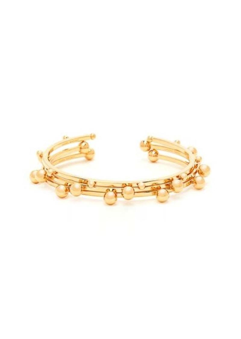 Isabel Marant Set of three ball-stud brass bangles