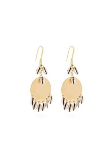 Isabel Marant Shell-charm brass earrings
