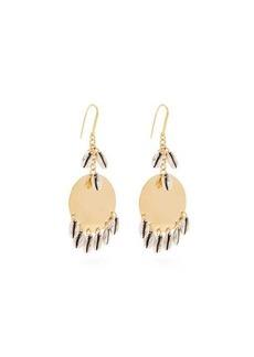 Isabel Marant Shell-charm brass earrings
