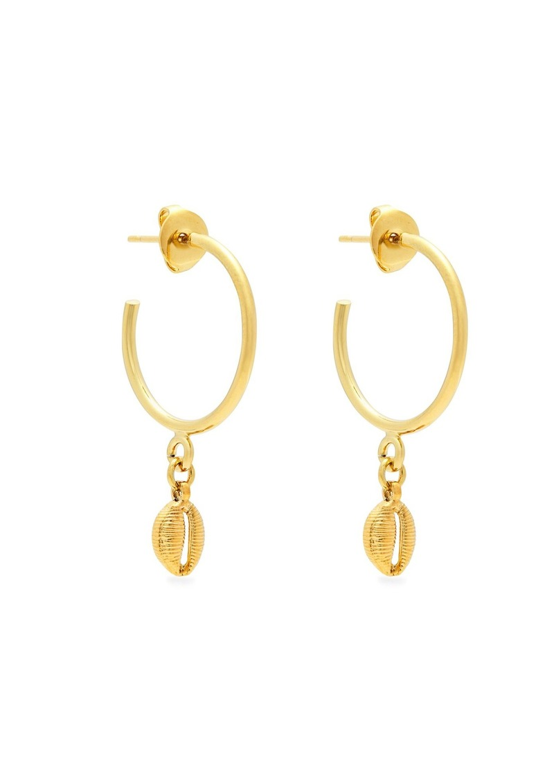 7fb6bcab8a5 Isabel Marant Isabel Marant Shell drop hoop earrings | Jewelry