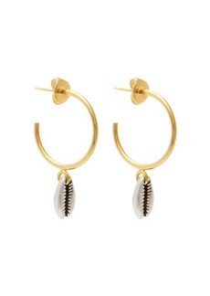 Isabel Marant Shell-drop hoop earrings