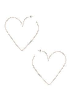 Isabel Marant Shiny In Love Heart Earrings