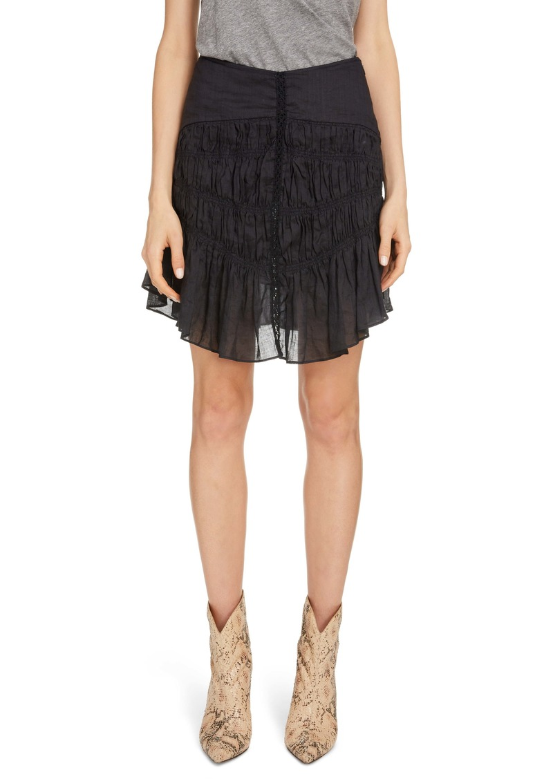 Isabel Marant Shirred Miniskirt