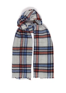 Isabel Marant Simona checked wool and cashmere scarf