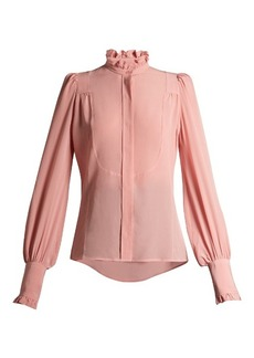 Isabel Marant Sloan ruffled high-neck blouse