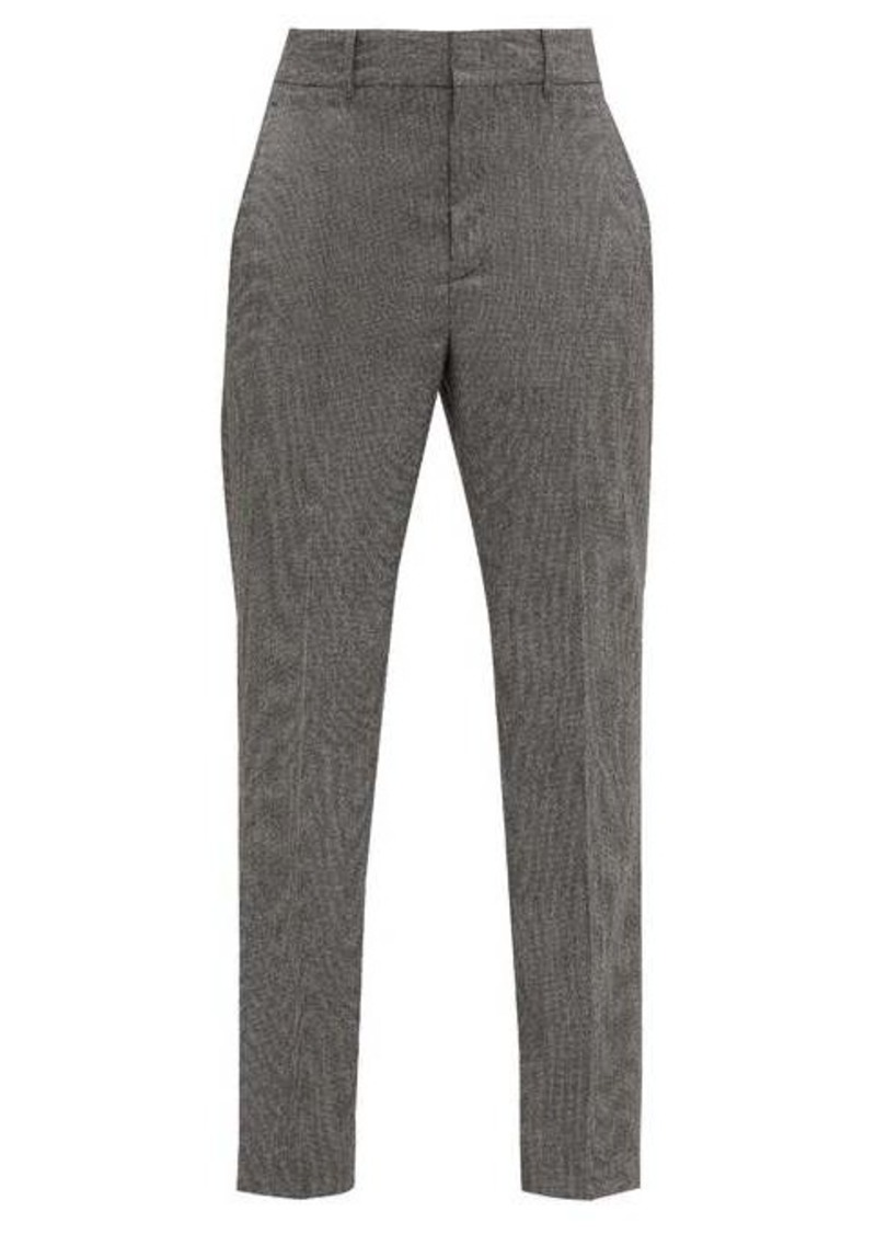 Isabel Marant Sonnel houndstooth-wool slim-leg trousers