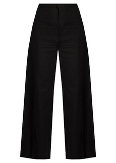 Isabel Marant Spanel wide-leg cotton-blend cropped trousers