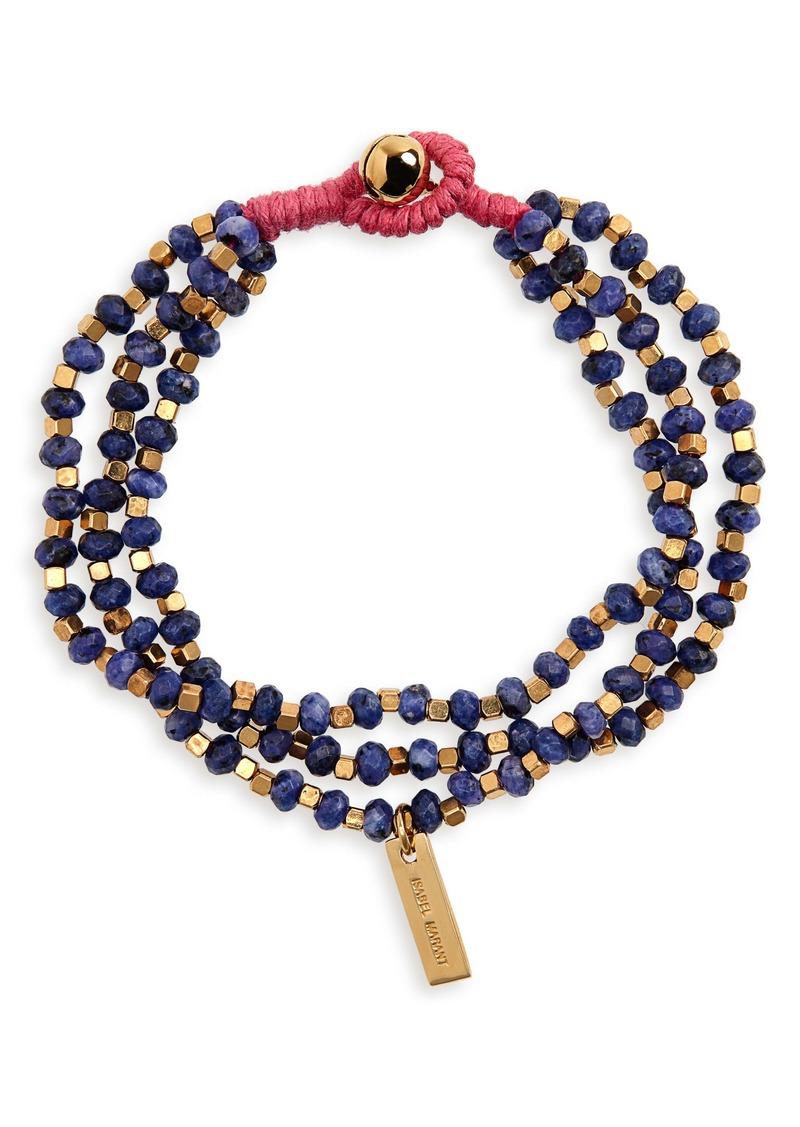 Isabel Marant Stone Beaded Toggle Bracelet