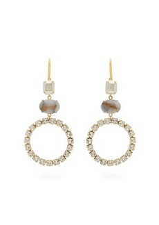 Isabel Marant Strass-embellished hoop drop earrings