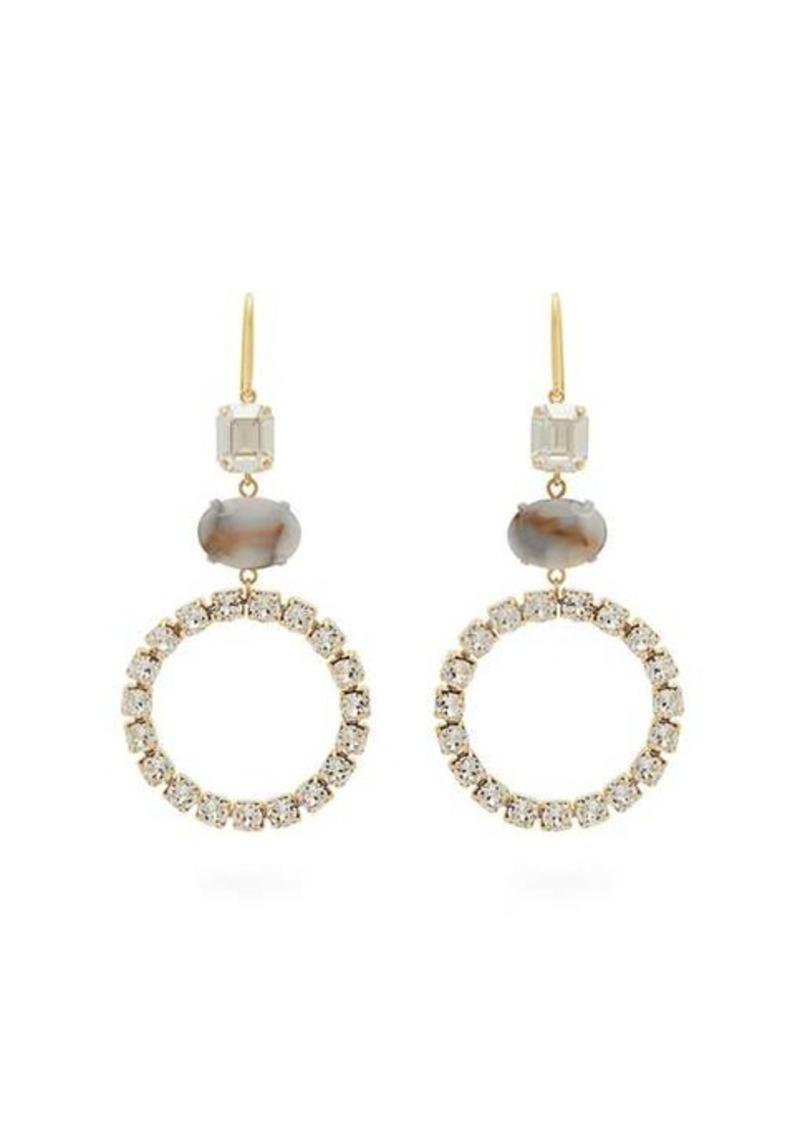 Isabel Marant Strass-embellished hoop drop earrings