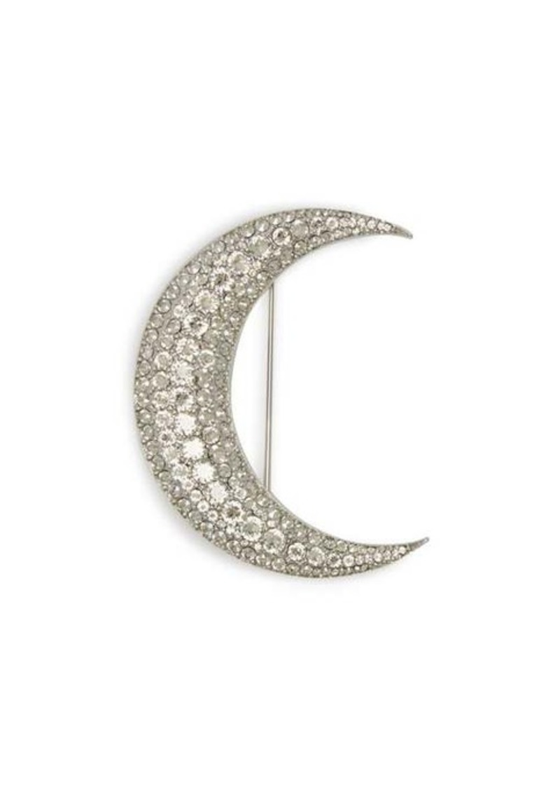 Isabel Marant Strass-embellished moon brooch
