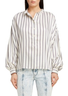 Isabel Marant Stripe Puff Sleeve Shirt