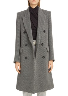 Isabel Marant Stripe Wool Menswear Coat