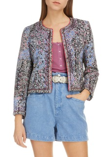 Isabel Marant Studded Patchwork Cotton & Linen Jacket