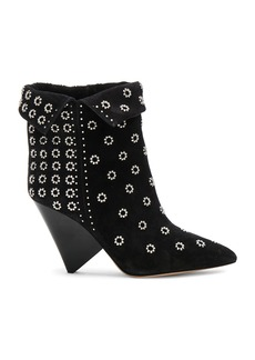 Isabel Marant Studded Suede Lakky Ankle Boots