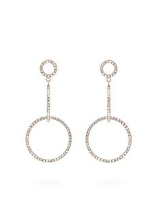 Isabel Marant Supra crystal-embellished hoop-drop earrings