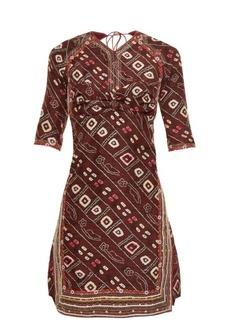 Isabel Marant Tacey open-back printed dress