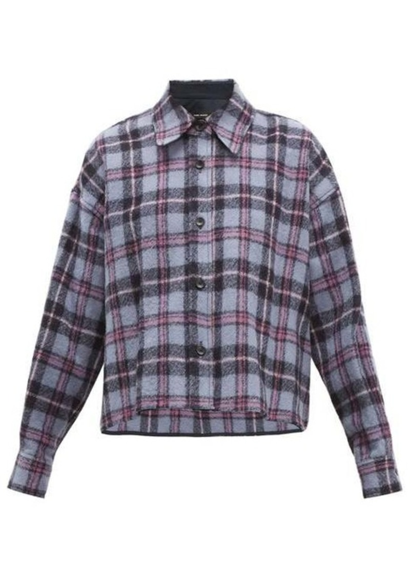 Isabel Marant Tartan brushed-wool shirt