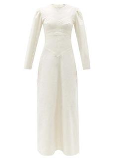 Isabel Marant Taylin panelled cotton maxi dress