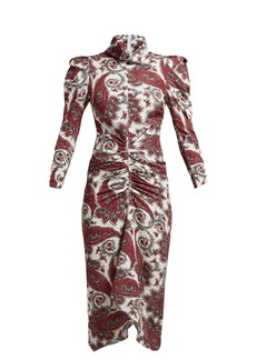 Isabel Marant Tizy paisley-print silk high-neck dress