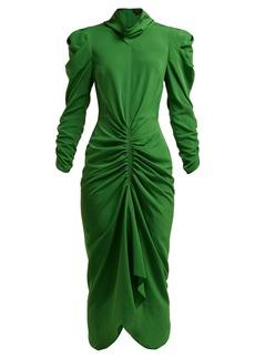 Isabel Marant Tizy ruched crepe dress
