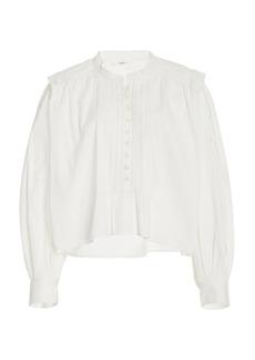 Isabel Marant Étoile - Women's Okina Poplin Top - White - Moda Operandi