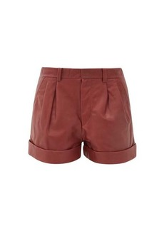 Isabel Marant Étoile Abot pleated leather shorts