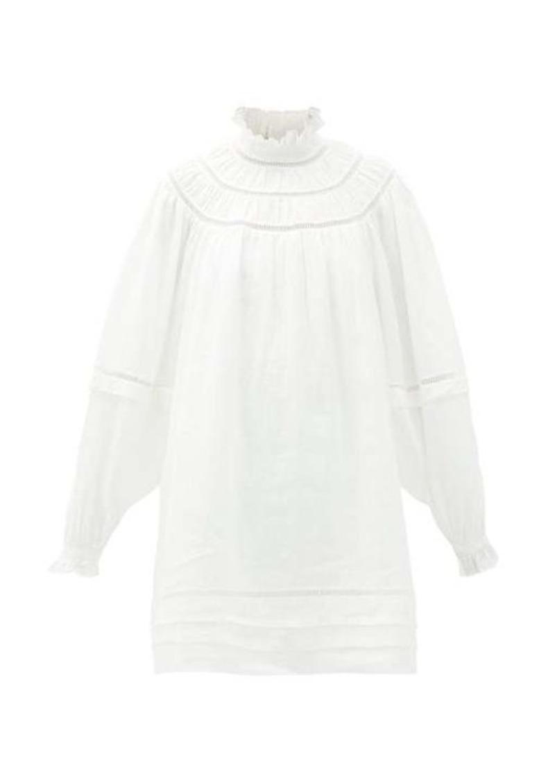 Isabel Marant Étoile Adenia balloon-sleeve linen mini dress