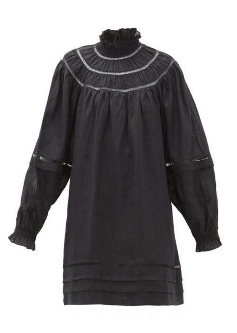 Isabel Marant Étoile Adenia ladder-lace linen dress