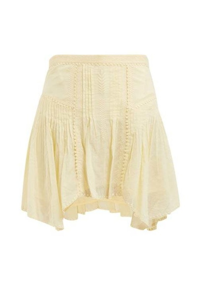 Isabel Marant Étoile Akala lace-trimmed cotton mini skirt