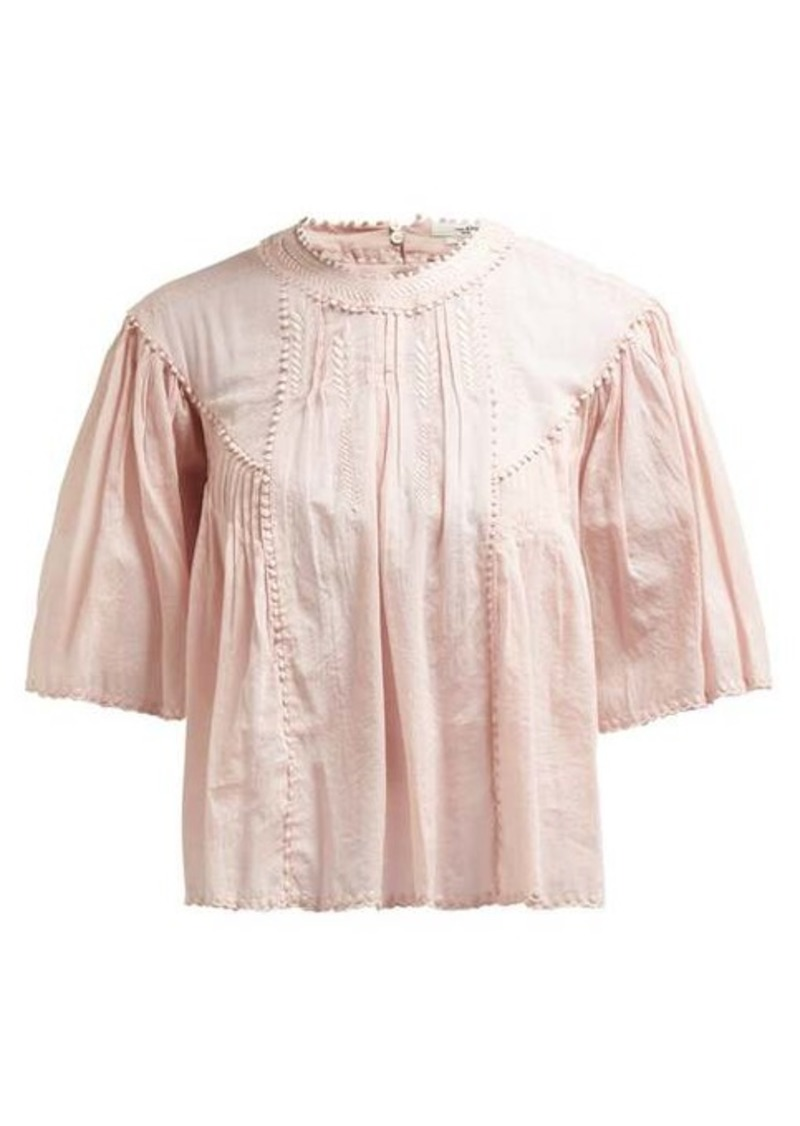 Isabel Marant Étoile Algar embroidered cotton top