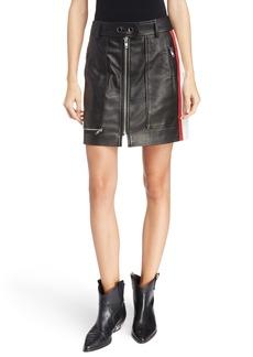 Isabel Marant Étoile Alynne Side Stripe Leather Miniskirt