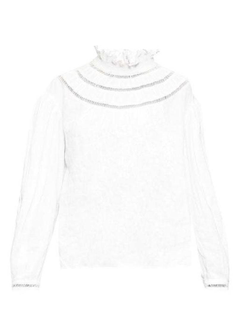 Isabel Marant Étoile Amalia ladder-stitch linen blouse