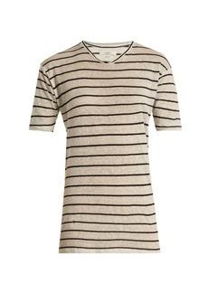 Isabel Marant Étoile Andreia striped linen-blend T-shirt