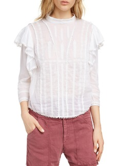 Isabel Marant Étoile Anny Embroidered Ruffle Blouse