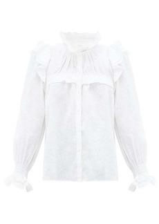 Isabel Marant Étoile Atedy ruffled-trim linen blouse
