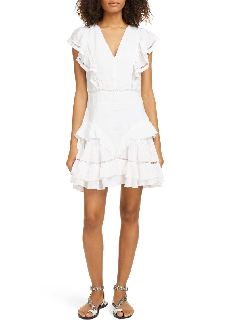 Isabel Marant Étoile Audrey Ladder Stitch Linen Minidress