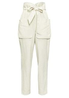 Isabel Marant Étoile Bessie paperbag-waist canvas trousers