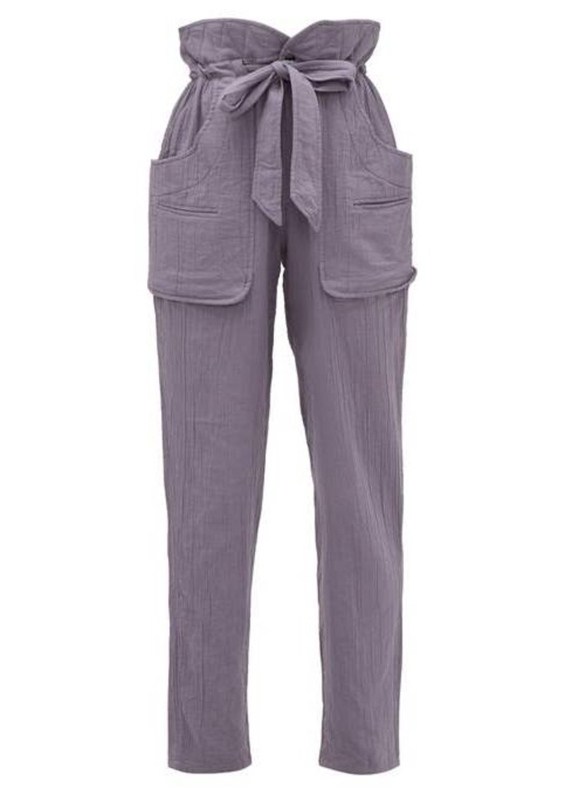 Isabel Marant Étoile Bessie paperbag-waist cheesecloth trousers