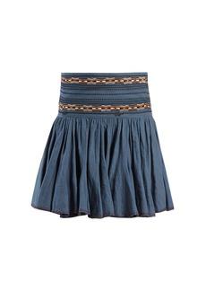 Isabel Marant Étoile Breeda embroidered gathered cotton skirt