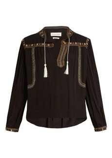 Isabel Marant Étoile Cabella embroidered crepe top