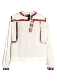Isabel Marant Étoile Cabella embroidered peasant blouse
