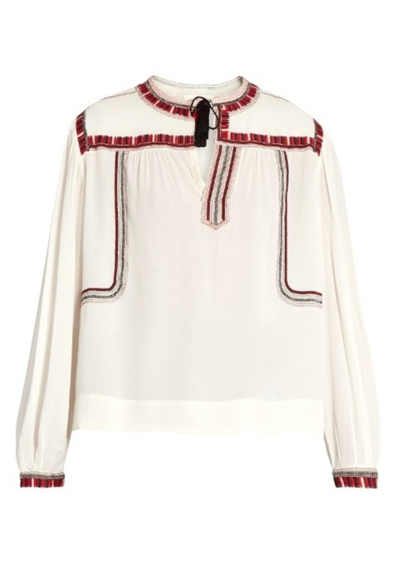 Cabella Peasant Embroidered Étoile Isabel Marant 0wO8mNnv
