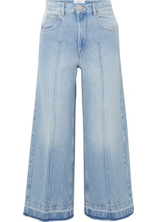 Isabel Marant Cabrio Cropped High-rise Wide-leg Jeans