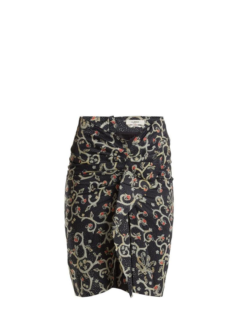568c332be6 Isabel Marant Isabel Marant Étoile Caja floral-print ruched skirt ...