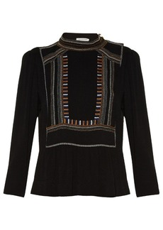 Isabel Marant Étoile Cerza embroidered crepe top
