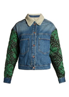 Isabel Marant Étoile Chrissa contrast-sleeve denim jacket