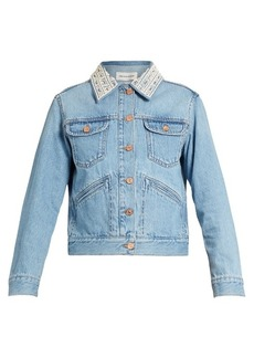 Isabel Marant Étoile Christa embellished-collar denim jacket